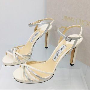 JYMMY CHOO LILAH 100 Metallic Women's Sandals